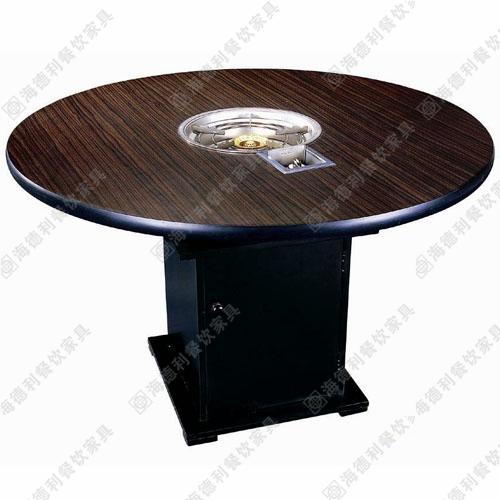 厂家直销 火锅台 火锅桌 电磁炉火锅桌椅 防火板火锅桌
