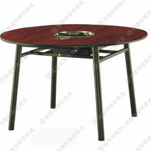圆形可折叠火锅桌子 防火板火锅桌 海底捞火锅桌定做