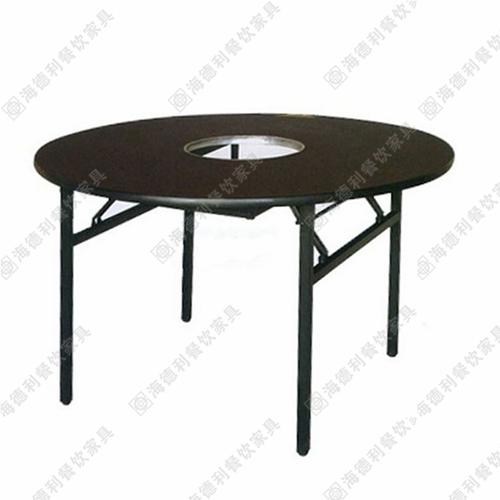 无烟火锅桌圆形燃气电磁炉火锅桌厂家批发特价定做尺寸