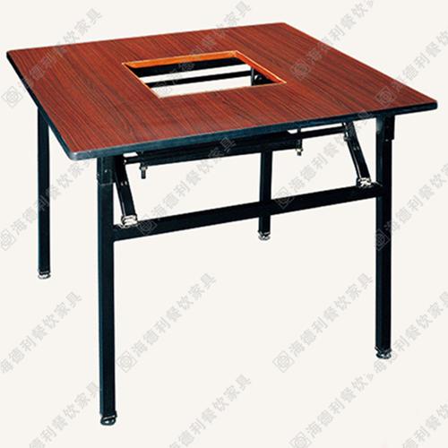 实木火锅桌椅组合 传统长方餐厅无烟火锅桌椅 火锅店桌椅