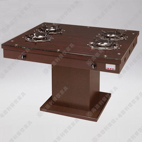 韩式无烟烧烤桌 自助烤涮一体桌 大理石火锅桌厂家直销 火锅桌椅