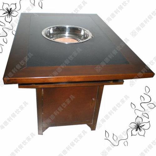 无烟火锅桌 自助火锅烧烤一体桌烤涮一体火锅桌无烟烧烤桌