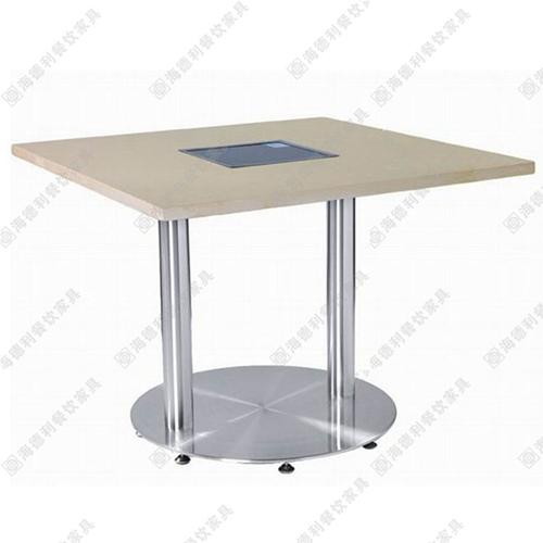 厂家包邮直销实木火锅桌椅燃气灶火锅桌电磁炉火锅桌定做