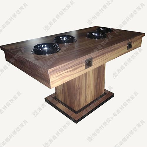 厂家批发 实木火锅桌椅组合 电磁炉液化气煤气灶火锅店餐桌批发