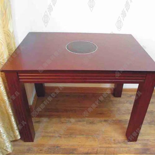 2015特价电磁炉火锅桌餐桌煤气灶燃气灶餐桌长方形火锅店餐桌