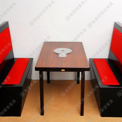电磁炉火锅桌定做 火锅餐桌 火锅桌子 实木火锅桌椅