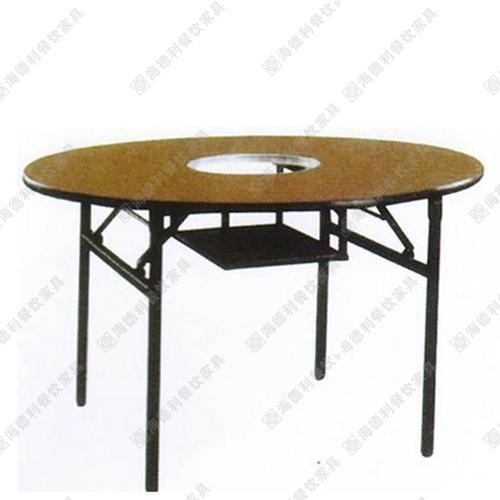 餐厅火锅桌 圆形电磁炉火锅台 煤气灶火锅台 多人火锅台