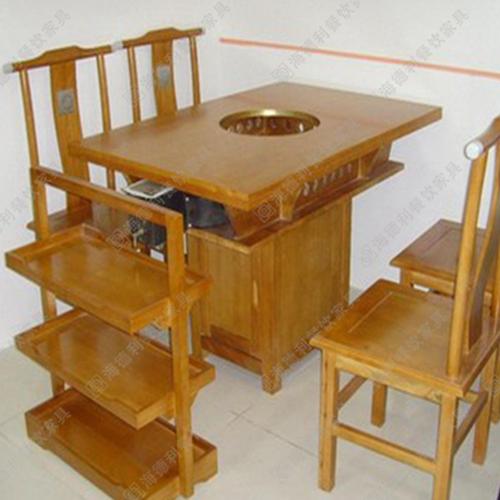 火锅餐桌椅 电磁炉火锅桌椅 火锅餐厅桌椅 实木火锅桌椅 火锅桌椅批发