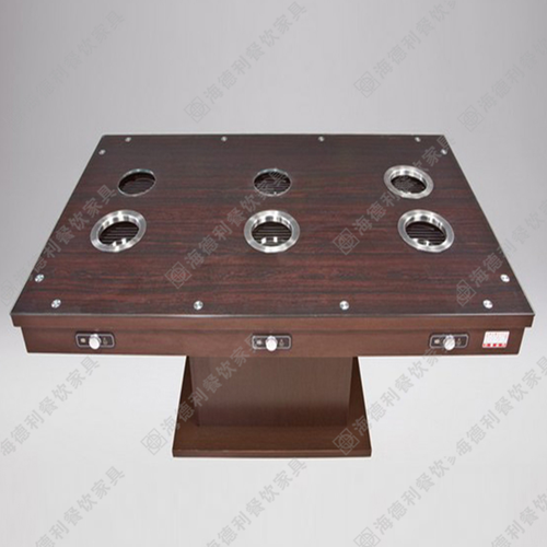 实木火锅桌 火锅电磁炉餐桌 小火锅电磁炉桌 火锅店家具