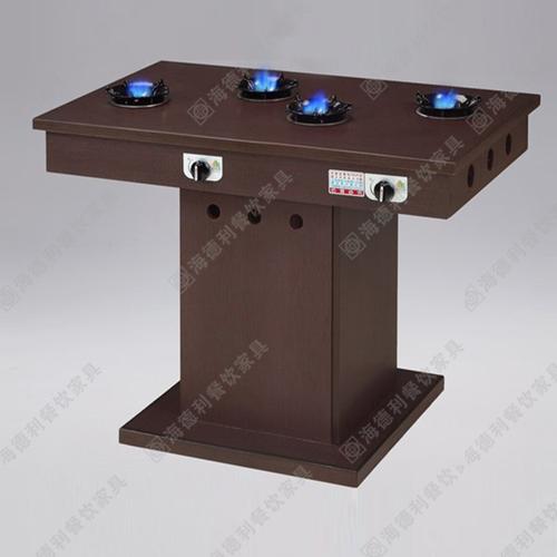 钢化玻璃火锅餐桌 不锈钢火锅台 火锅桌子