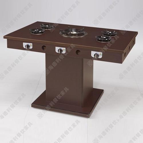 火锅餐桌定做 实木火锅餐桌椅直销 餐厅火锅桌椅厂家