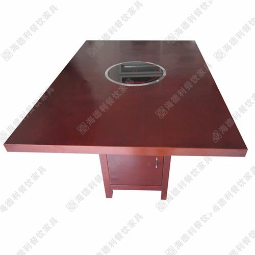 火锅桌 防火板火锅桌 全实木火锅桌 电磁炉火锅桌