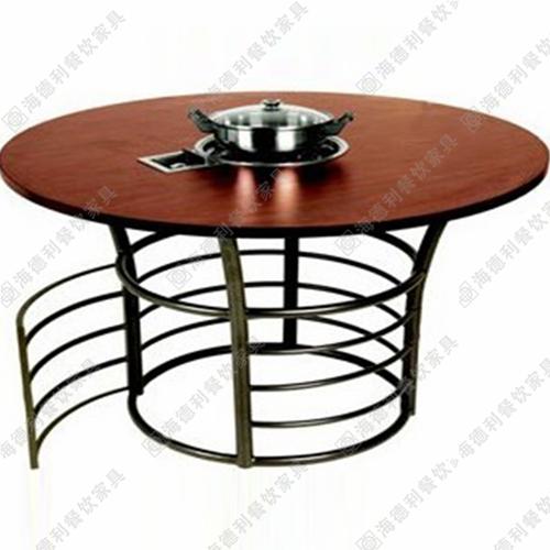 煤气灶实木火锅餐桌 燃气灶实木火锅餐桌 电磁炉实木火锅餐桌