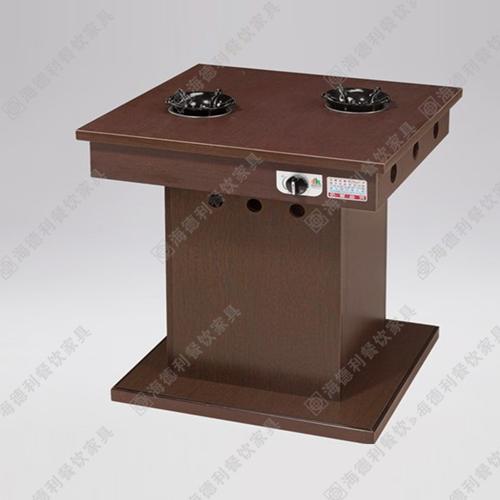 防火板电磁炉火锅桌 电磁炉火锅餐桌 实木电磁炉火锅桌