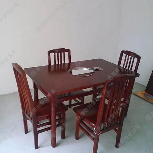 火锅店实木桌椅 餐厅实木桌椅 酒店实木桌椅