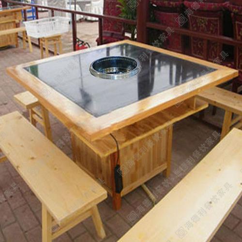 火锅桌用哪种材质最好 火锅店家具 实木火锅桌