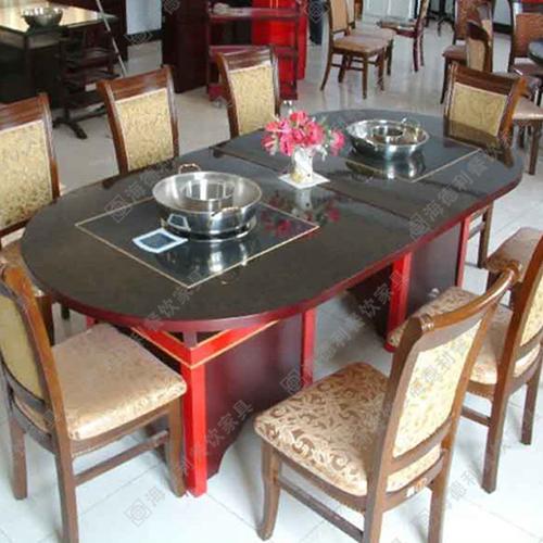 电磁炉火锅桌 电动火锅桌 自助折叠火锅餐桌