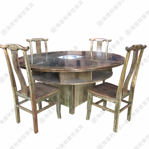实木火锅桌 实木火锅桌椅 实木火锅餐桌