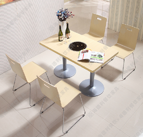 火锅店配套家具 火锅餐桌椅 实木火锅桌