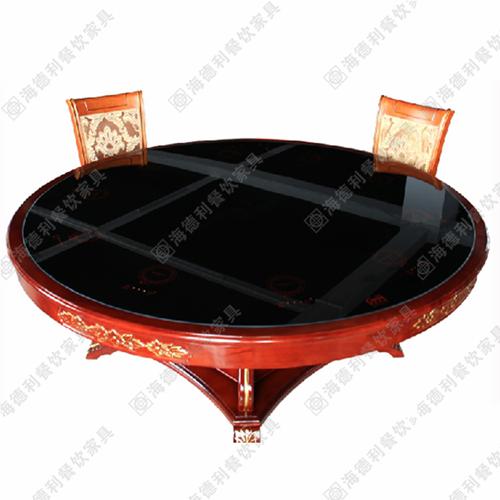 电磁炉火锅桌 隐形电磁炉火锅桌 钢化玻