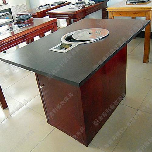 厂家供应 餐厅防火板火锅桌 实木火锅桌