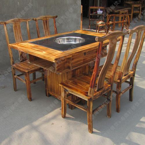 2015年厂家新款定制 餐厅火锅桌椅 火烧