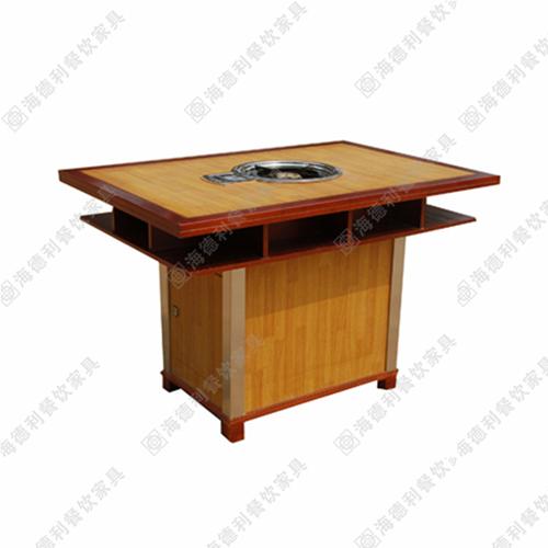 厂家直销大理石电磁炉实木火锅桌 烧烤