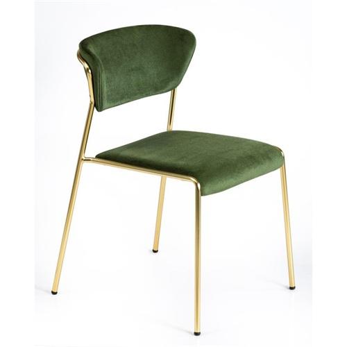 韩式现代简约镀金不锈钢靠背椅