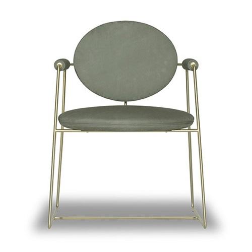 火锅店轻奢极简金属椅