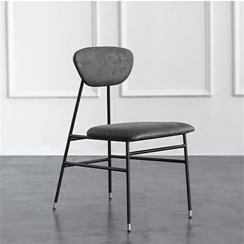现代简约铁艺软包靠背椅