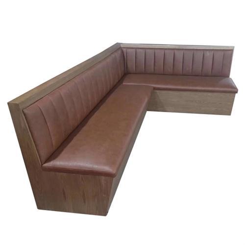 火锅店卡座三人沙发