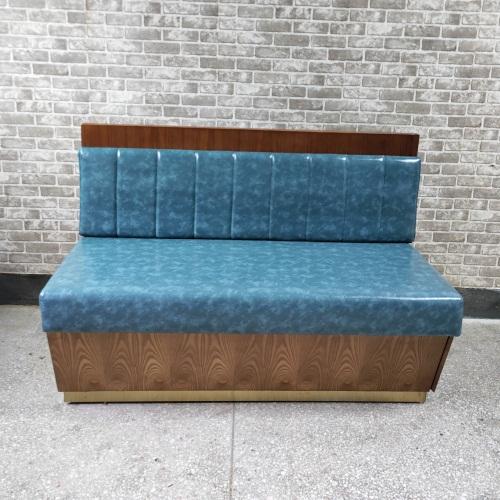 火锅店优质实木卡座沙发家具定制
