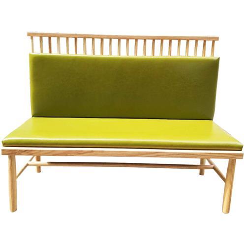 优质实木火锅店单面卡座 北欧休闲沙发
