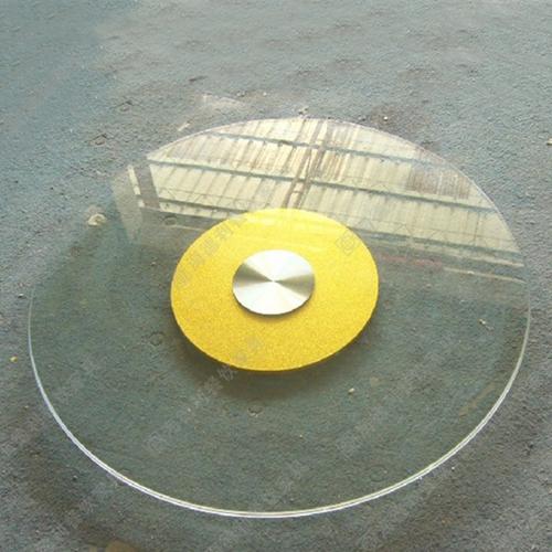 火锅桌玻璃钢玻璃转盘 餐厅酒店加厚0.8M长玻璃钢玻璃转盘