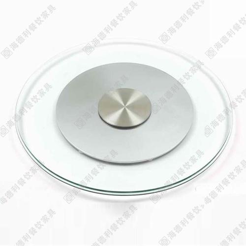 大理石餐桌玻璃转盘 火锅店餐厅时尚10mm餐桌火锅桌钢化玻璃转盘