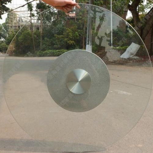 酒店玻璃钢转盘 不锈钢底座火锅桌餐桌玻璃钢转盘厂家定做