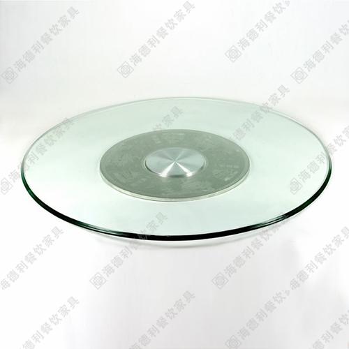 餐桌钢化玻璃转盘 饭店餐厅火锅桌餐桌加厚12mm钢化玻璃转盘图片定做