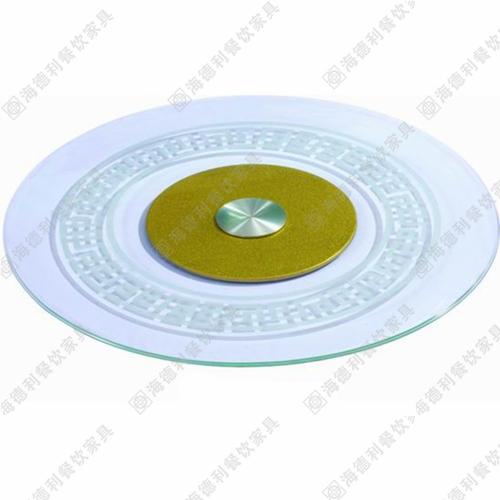 自动钢化玻璃转盘 高档遥控加线控餐桌火锅桌玻璃转盘