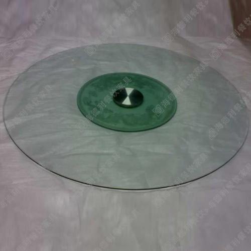 简约玻璃转盘 火锅餐厅餐桌时尚钢化玻璃转盘