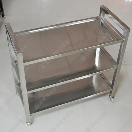 不锈钢菜架,现代火锅餐厅时尚可移动不锈钢菜架,三层全不锈钢板菜架