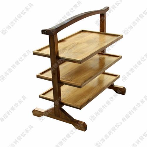 实木菜架,古典艺术三层全实木板菜架,经典高档全实木菜架