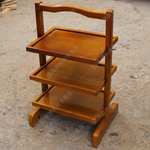 时尚三层实木菜架,现代实木菜架,多功能艺术三层实木菜架