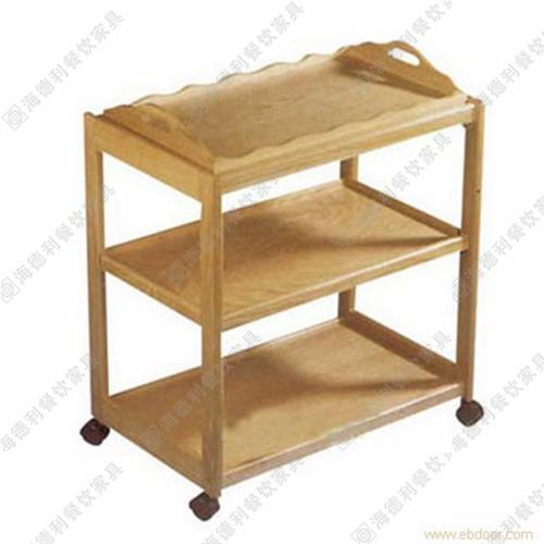 全实木菜架,现代可移动三层实木板菜架,时尚雕花不漏水全实木板菜架