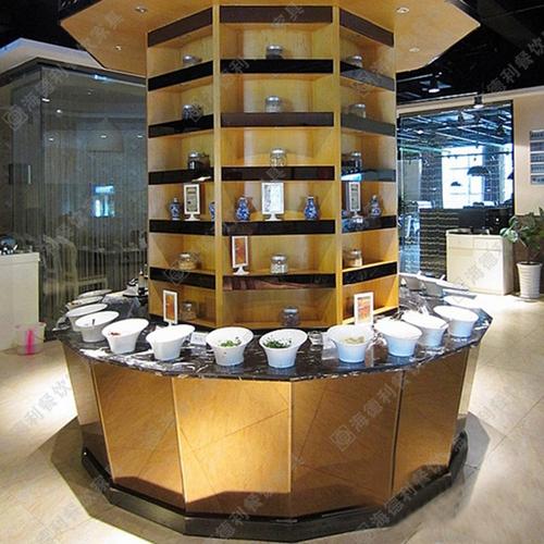 餐厅酒店实木酱料台 火锅餐厅多功能多用大型实木酱料台