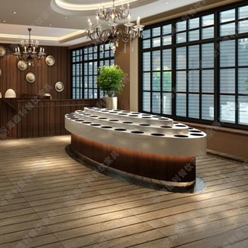 大理石酱料台 酒店火锅厅时尚鱼形白色大理石酱料台