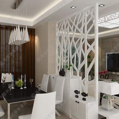现代白色塑料屏风隔断 时尚客厅餐厅多用玄关隔断 火锅店高档白色隔断屏风