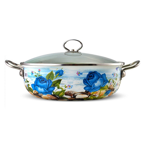 优质印花不锈钢汤锅 火锅桌配套汤锅价