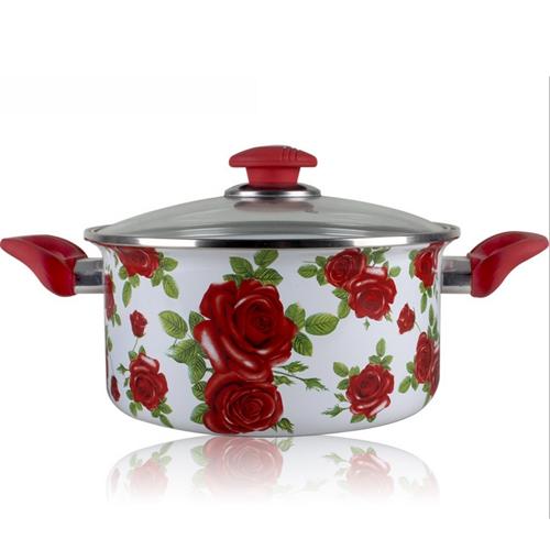 优质印花不锈钢汤锅 火锅桌配套汤锅样