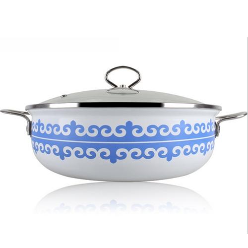 优质印花不锈钢汤锅 火锅桌配套汤锅款