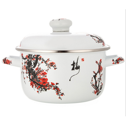 优质印花不锈钢汤锅 火锅桌配套汤锅厂